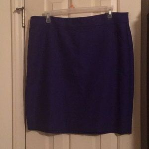 JCrew Factory Purple Pencil Skirt size 20 NWOT